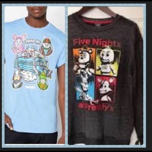 Tops - Bundle of Two...New Boy's FORNITE & FREDDY'S Wear